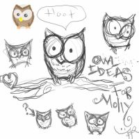 owls for molly by OrangeFruity