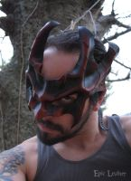 Dragon Oni Leather Mask by Epic-Leather