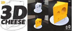 simple 3D cheese by silva018