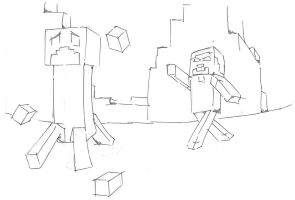 Minecraft water balloon fight by quaid99