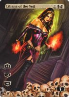 Liliana of the veil full art alter by MimiMunster