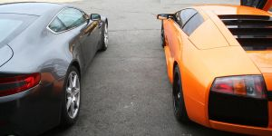 Lamborgini and Aston martin by julsscorp
