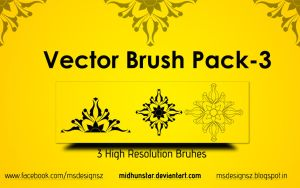 Vector Brsuh Pack-3 by midhunstar