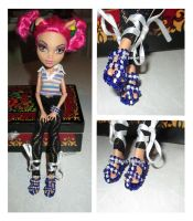 Shoes made  from beads for a Monster High doll by Nastea-AnyMash