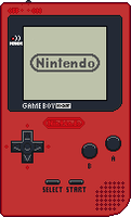 Game Boy Pocket [Red] by BLUEamnesiac
