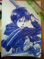 Eren Jeager (Pen) by RomboidePitch
