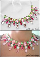 Watermelon Collar Necklace by Natalie526