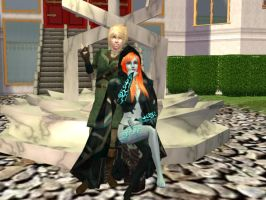 Midna and Link in sims 2 by moonshadow456