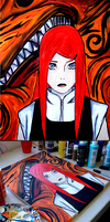 Naruto 499 : Kushina painting by iareawesomeness