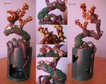 Fimo Autumn Bonsai 2 by FunkadelicPsychoFish