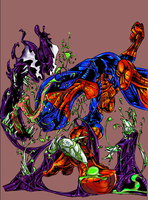 spidy venom symbiot final XD by voidsource