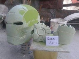resin mark 42 helmet and repulsor hand progress by actstudio65148