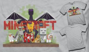 Unsung Heroes of Minecraft T-Shirt Submission by DPArtsMusic