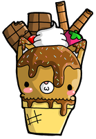 Foxy Fudge Ice Cream by Crystal-Moore
