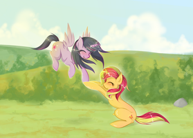 Get down here by clownpoisson