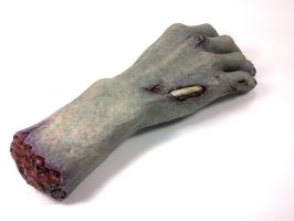 Severed Zombie hand by DethBecomesYou