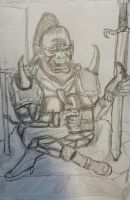 Warcraft. The Happy Orc Blademaster by CookArts