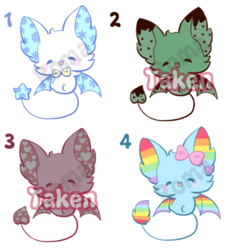 [open] Bat Adoptables by Romaji