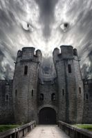 cardiff castle by darkart84-stock