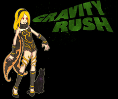 Kat and Dusty from Gravity Rush by TyroneJames