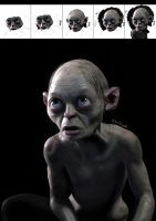 Gollum digital painting by Dario1crisafulli