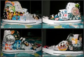 Beatles...exploded. on Shoes. by pennylane48