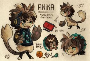 Anika Ref. Sheet [Commission] by Baraayas