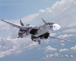 VF-19A Bank Turn by Zinjo