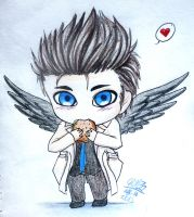 little Castiel by Gresta-GraceM
