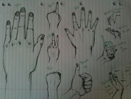 Hand sketches1 by CeruleanHeavens