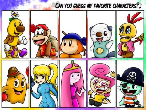 Can you guess my favorite characters?? :3 by SuperLakitu