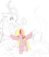 FlameSkull And Discord by ItsLonely