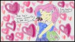 Danio and Fluttershy by AgentLexus