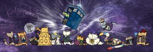 Dr-who-cats 4web by katiecandraw