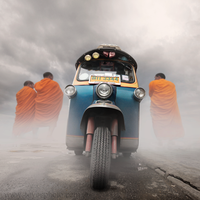 Tuk Tuk Monks by foureyes