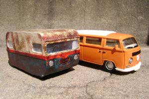 Saab 92h and T2 Camper by prorider