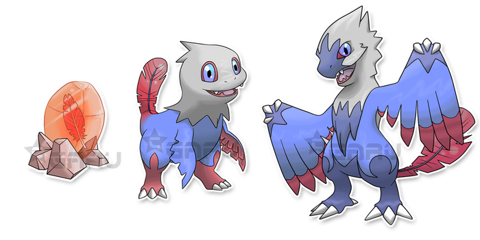 The Velociraptor Fakemon by Neliorra