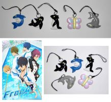 ''Free!'' Iwatobi Swim Club Cellphone Charms by UniqueTreats