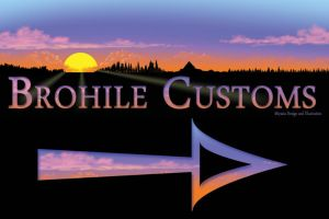 Brohile Customs Yard Sign by Miyasia