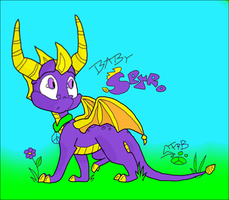 Baby Spyro - Colored by Muzzel
