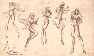 Practice with poses by Axsens