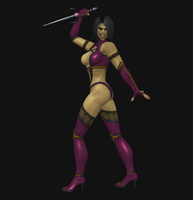 Mileena - no mask by dim1988