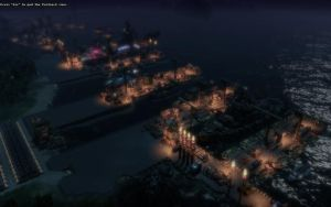 Anno 2070 - Port At Night by Shroomworks