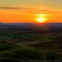 Palouse Sunrise by La-Vita-a-Bella