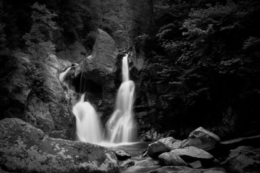 Copake Falls BW 4 by StephenMPhotography