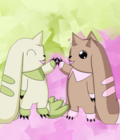 Terriormon And Lopmon by Destiny-The-Hedgimon