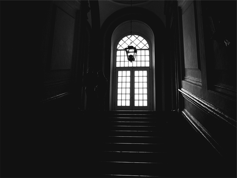 dark staircase to the light by LewisWright