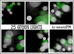 Green defocused lights by Sanami276