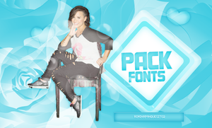 PACK FONTS FREE. by Romina-panquesito