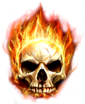 Skull In Fire by RoosterTeethFan